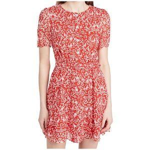Saloni Sophie Red Floral Skater Dress Size 2